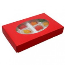 Red Box with Oval Window 1/2lb