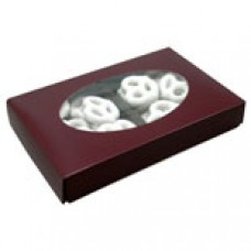1/2lb Burgundy Box with Oval Window