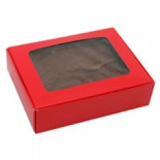 Red Box with Window 1/4 lb