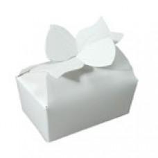 2 Chocolate White Bow Box