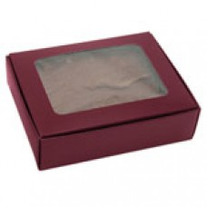 1/4 lb Burgundy Box with Window