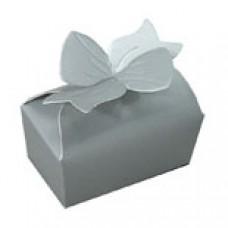 2 Chocolate Silver Bow Box #1847