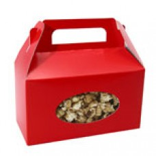 Red Box with Handle with Oval Window 1lb