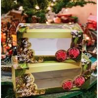 "Yule Log Box with Window 12x6x6"""