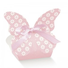 Pink Butterfly Baby Box