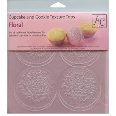 Floral Cupcake and Cookie Texture Mats