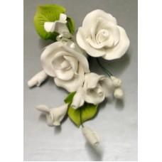 Small Tea Rose Sprays - White