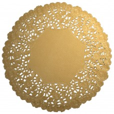 "10"" Gold Round Doilies"
