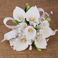 Calla Lily Cake Topper - White