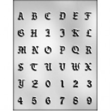 Alphabet and Numbers - Chocolate Mold
