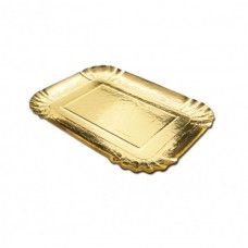 Gold Rectangular Plate 22x28cm