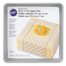 "Square Wilton Cake Mold 10"" x 10"" x 2"""