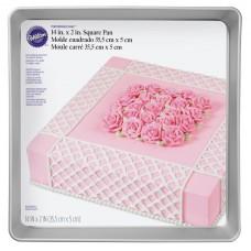 "Square Wilton Cake Mold 14"" x 14"" x 2"""